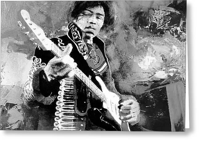 Jimi Hendrix The Legend 03 Greeting Card