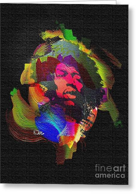 Jimmi Hendrix Greeting Card by Mo T