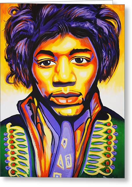 Hendrix Greeting Card by Amraj Singh Boyal