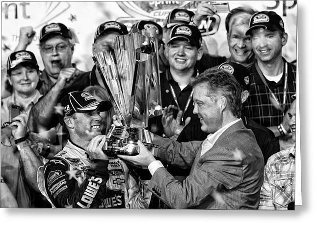 Jimmie Johnson Wins Greeting Card by Kevin Cable