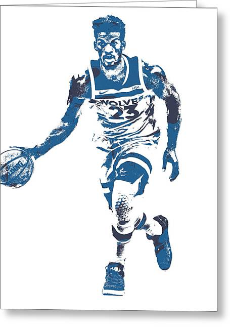 Jimmy Butler Minnesota Timberwolves Pixel Art 5 Greeting Card