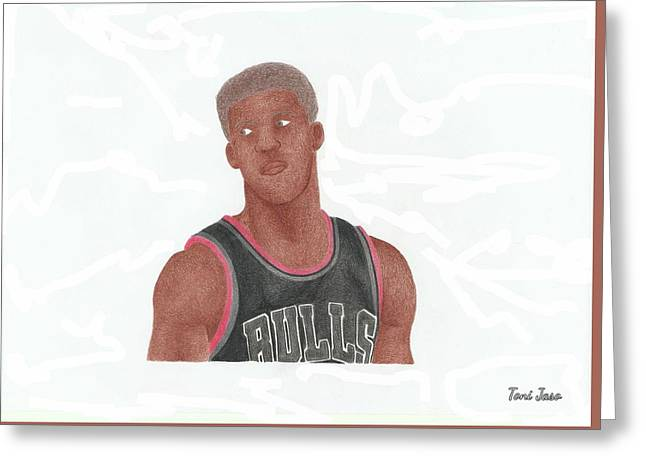 Jimmy Butler Greeting Card by Toni Jaso