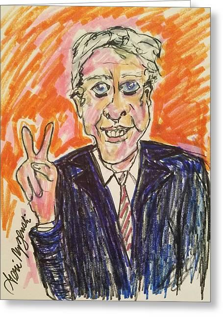 Jimmy Carter 39th President Greeting Card by Geraldine Myszenski