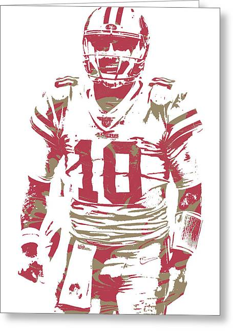 c663befa864b Jimmy Garoppolo San Francisco 49ers Pixel Art 3 Greeting Card