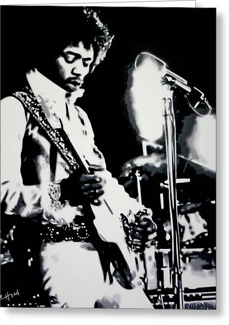 Jimmy Hendrix Purple Haze Greeting Card