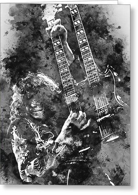 Jimmy Page - 02 Greeting Card