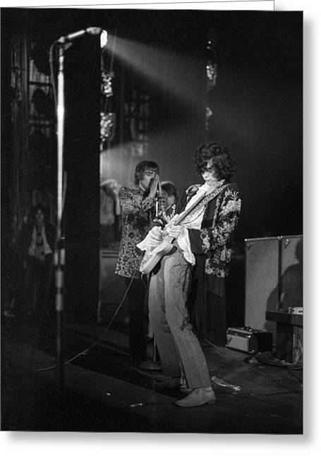 Jimmy Page And The Yardbirds - 1967 Greeting Card