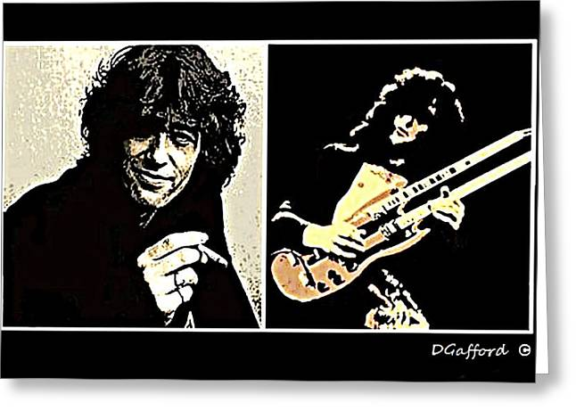 Jimmy Page Greeting Card by Dave Gafford
