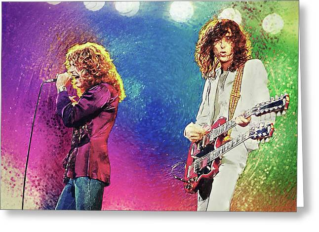 Jimmy Page - Robert Plant Greeting Card