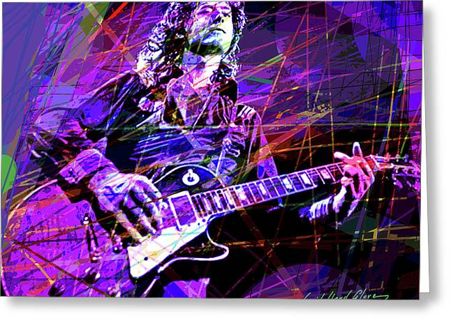 Jimmy Page Solos Greeting Card