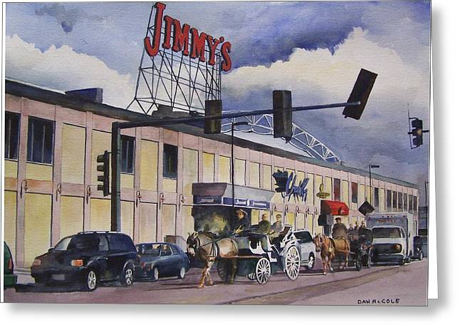 Jimmy's Harborside Greeting Card by Dan McCole