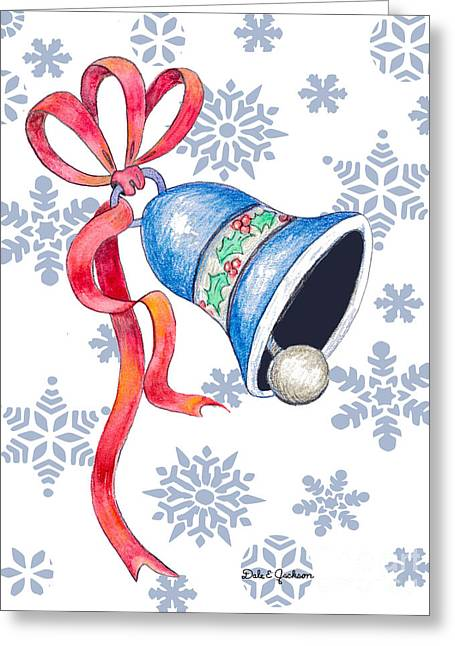 Jingle Bells And Snowflakes On Christmas Day Greeting Card