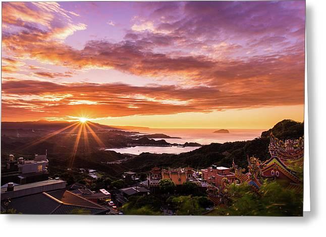 Jiufen Sunset Greeting Card