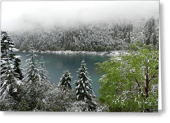 Jiuzhaigou National Park, China Greeting Card