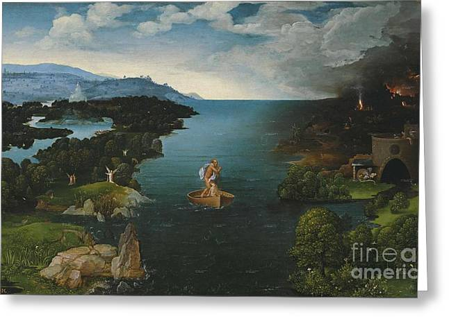 Joachim Patinir And Landscape With Charon Crossing The River Styx Greeting Card by MotionAge Designs