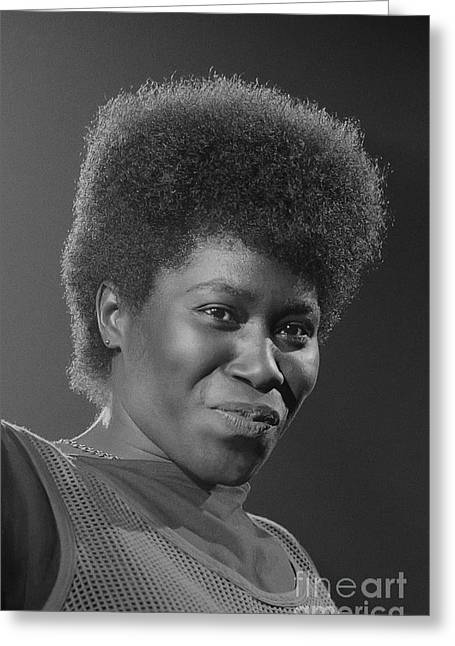 Joan Armatrading 4 Greeting Card by Philippe Taka