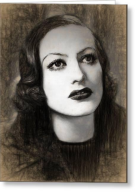 Joan Crawford Greeting Card by Quim Abella