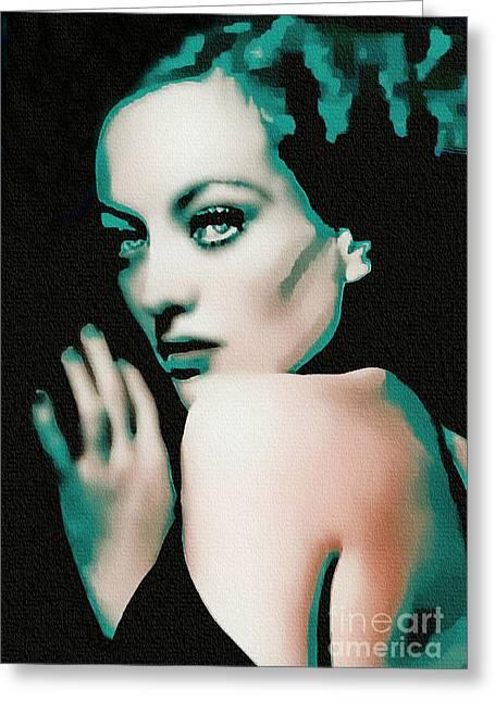 Joan Crawford - Pop Art Greeting Card