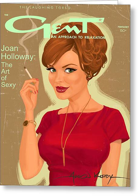 Joan Holloway In Gent Greeting Card by Aaron Kirby