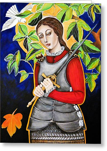 Joan Of Arc Greeting Card by Christina Miller