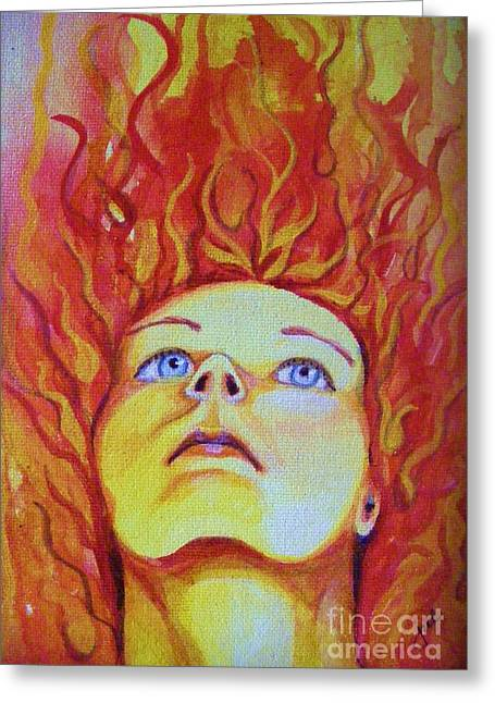 Joan Of Arc Greeting Card by Jean LeBaron