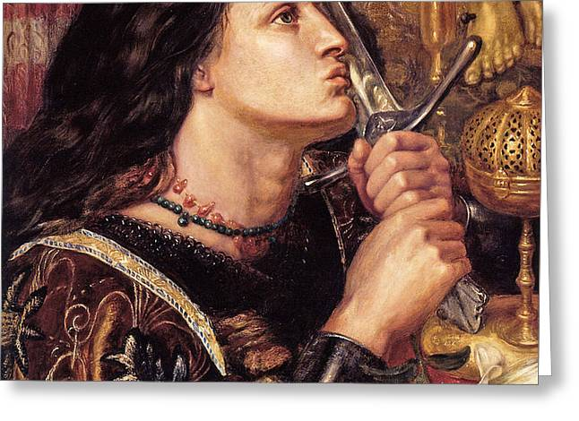 Joan Of Arc Kissing The Sword Of Deliverance Greeting Card