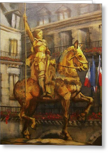 Joan Of Arc Monument In Paris Greeting Card by Tom Shropshire