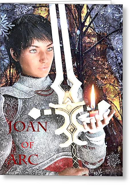 Joan Of Arc Poster 2 Greeting Card