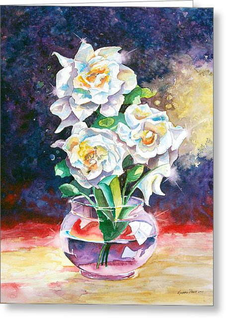 Joan's Gardenias Greeting Card by Michael Prout