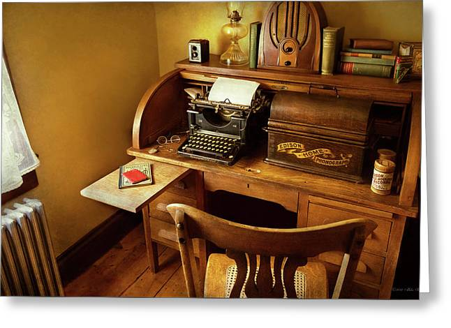 Job - Typist - A Person With Many Interests Greeting Card