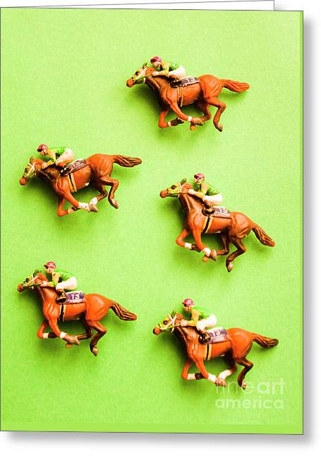 Jockeys And Horses Greeting Card by Jorgo Photography - Wall Art Gallery