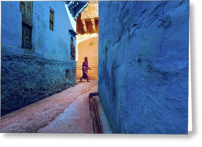 Jodhpur Colors Greeting Card
