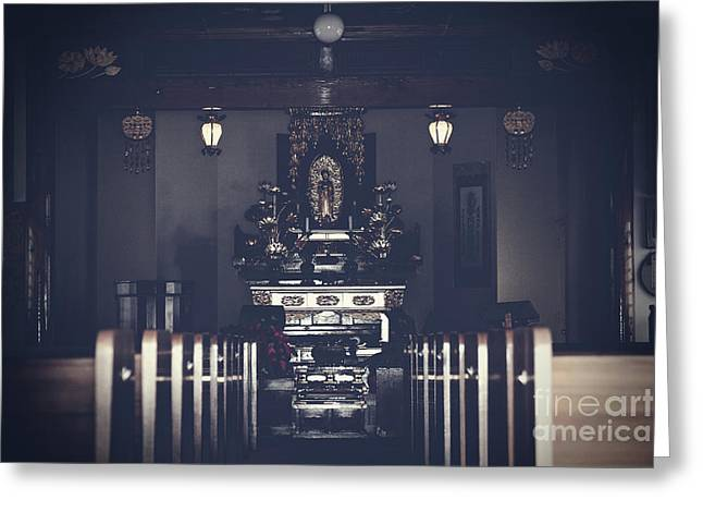 Jodo Shu Chion-in Japanese Style Temple Lahaina Maui Hawaii Greeting Card by Sharon Mau