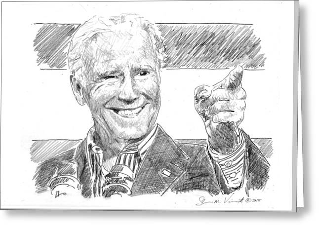 Joe Biden Greeting Card by Shawn Vincelette