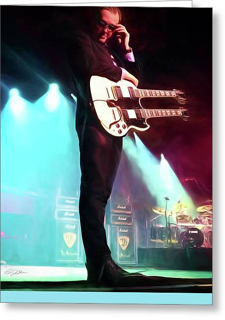 Joe Bonamassa 1 Greeting Card by Peter Chilelli