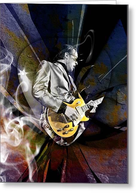 Joe Bonamassa Blues Guitarist Greeting Card by Marvin Blaine