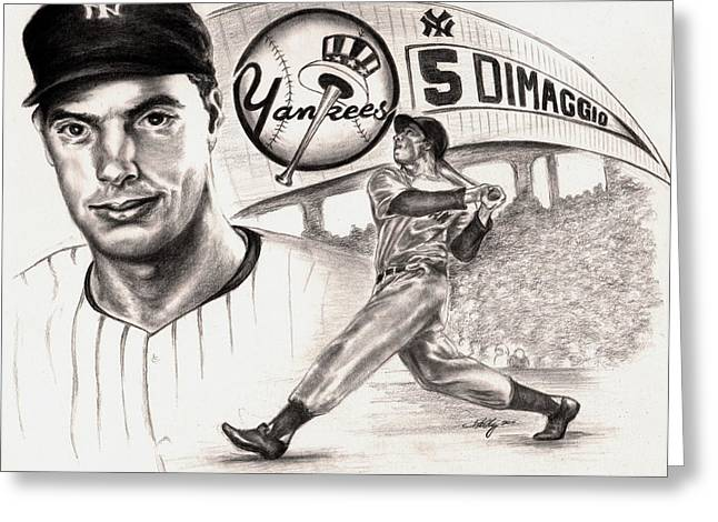 Joe Dimaggio Greeting Card by Kathleen Kelly Thompson