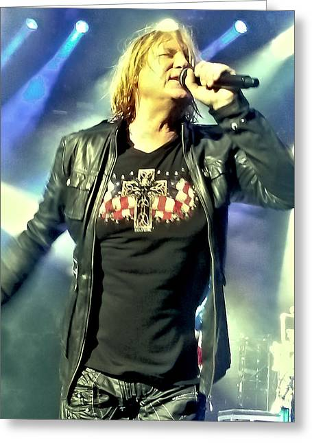 Joe Elliott Of Def Leppard Greeting Card by David Patterson