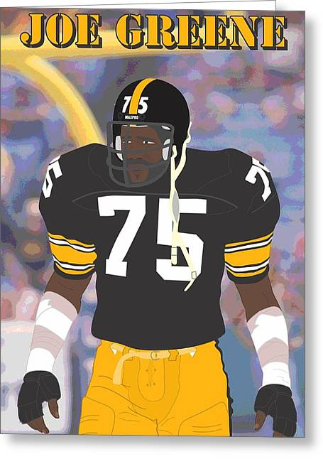 Joe Greene - Pittsburgh Steelers - 1978 Greeting Card by Troy Arthur Graphics