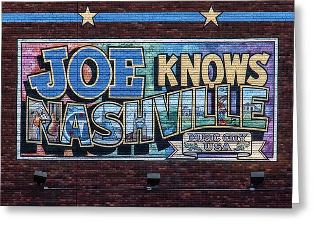 Joe Knows Nashville Greeting Card