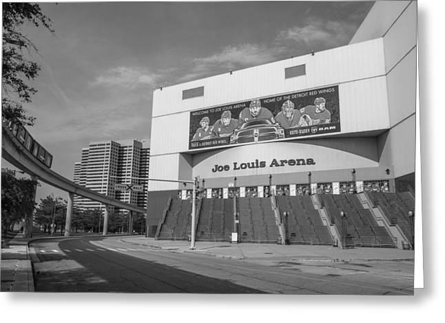 Joe Louis Arena Black And White  Greeting Card