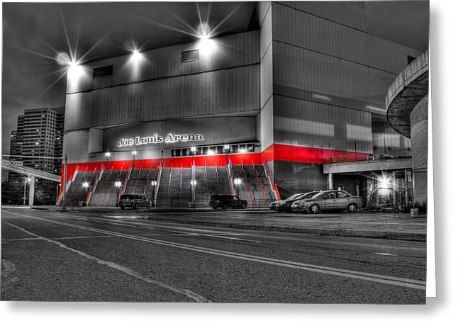 Joe Louis Arena Detroit Mi Greeting Card by Nicholas  Grunas