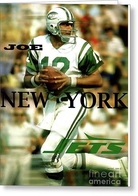 Joe Namath, Broadway Joe, New York Jets Greeting Card