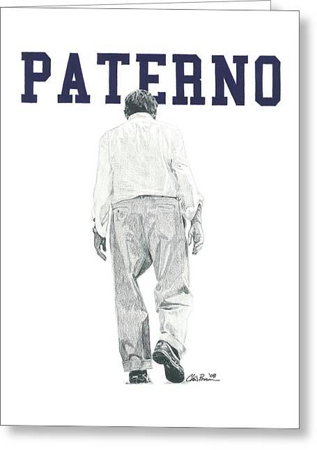 Joe Paterno Greeting Card