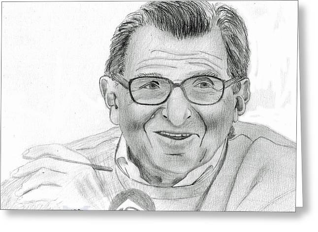 Joe Paterno Greeting Card