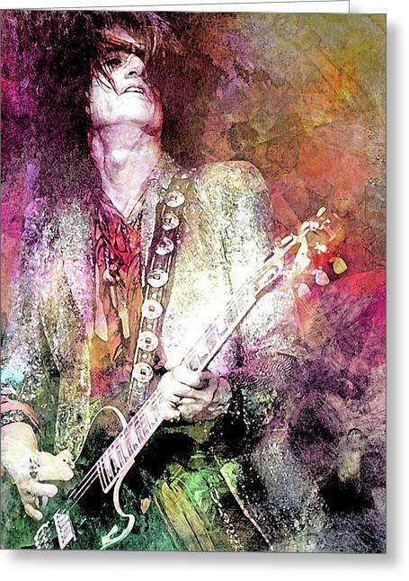 Joe Perry Aerosmith Greeting Card