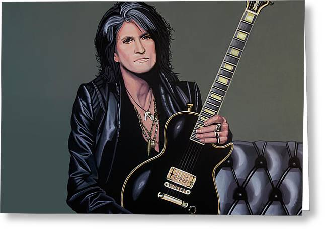 Joe Perry Of Aerosmith Painting Greeting Card