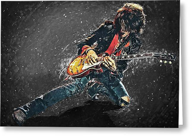Joe Perry Greeting Card