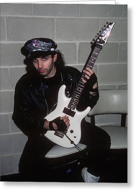 Joe Satriani Greeting Card by Rich Fuscia