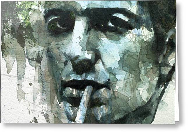 Joe Strummer - Retro  Greeting Card